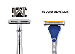 dollar shave club vs wet shaving club snippet