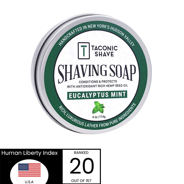 Shave Soap Made In The USA - Taconic Green
