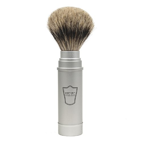 parker badger hair travel shave brush - the wet shave club