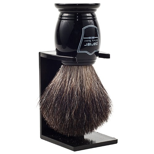 parker black badger shave brush - the wet shaving club - the best shave club
