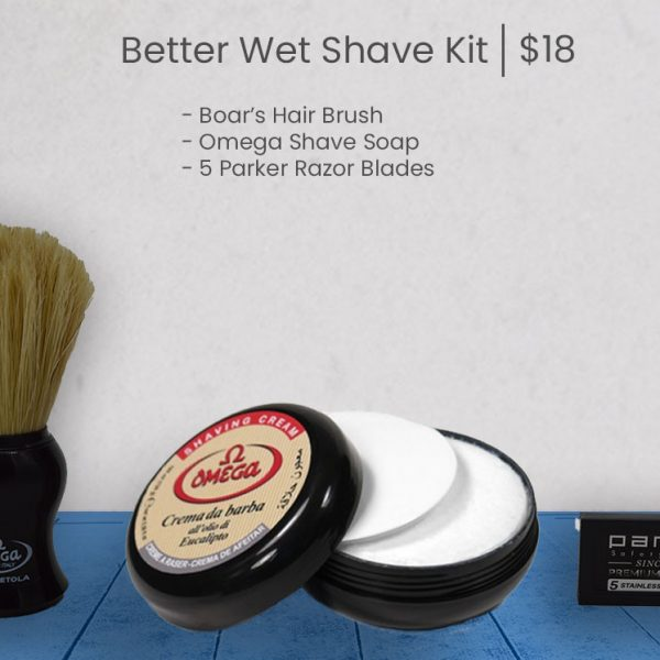 Better Wet Shave club Starter Kit - Blue