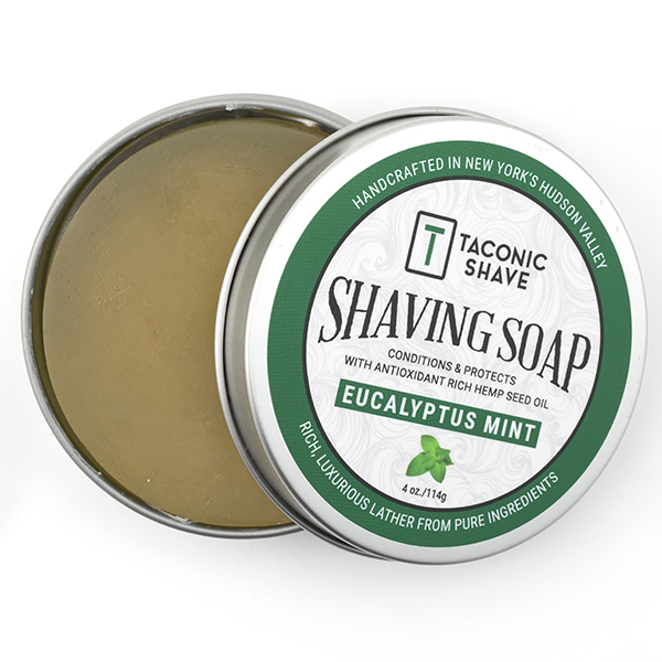 Taconic Shave Soap Eucalyptus - opened