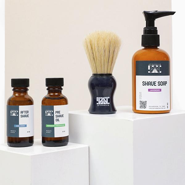 wet shave starter kit - shave soap pump - cream