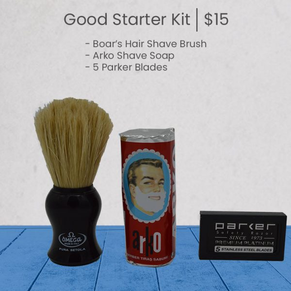 Good Wet Shave Kit - Blue
