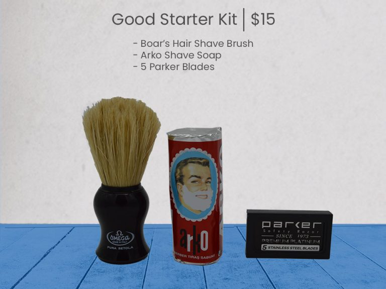 Good Wet Shave Kit - Blue