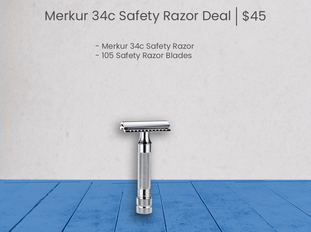 Merkur 34c Safety Razor - Blue