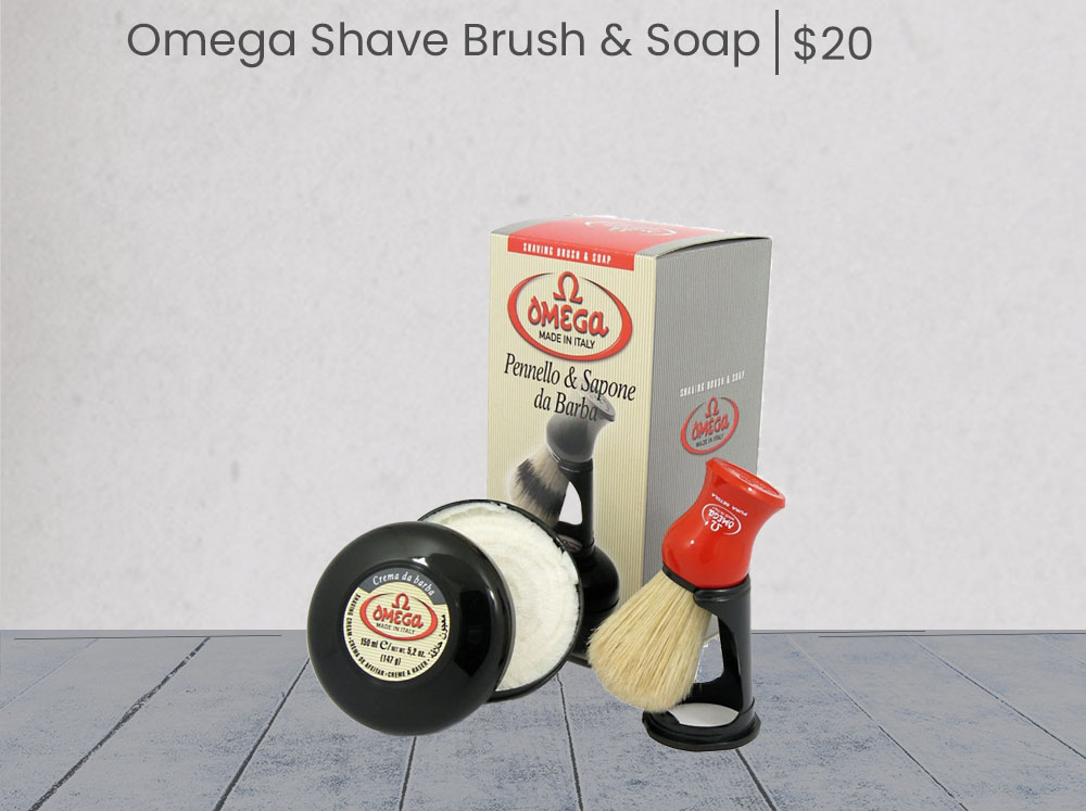 Omega Shave Soap And Shave Brush - add on
