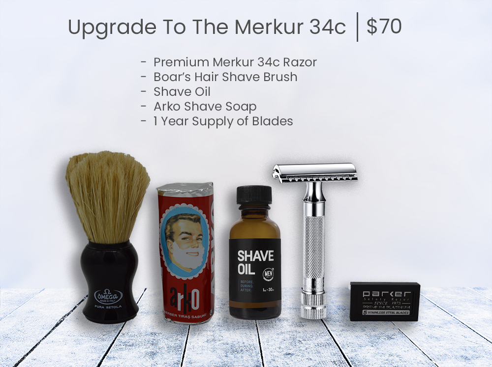 Add A Merkur 34c Bald Man Shave Deal- grey