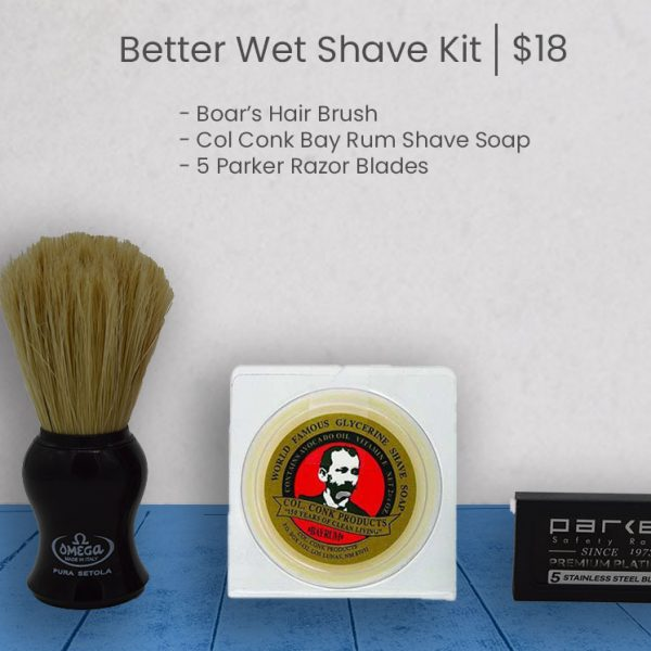 Better Wet Shave Starter Kit - Blue
