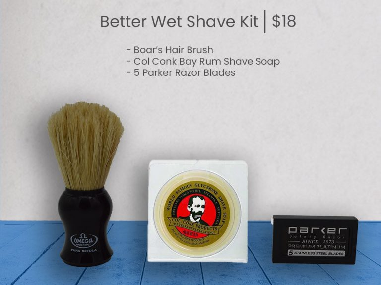 Better Wet Shave Starter Kit - Blue