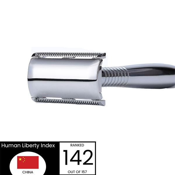 Retro safety razor - front laying view - Made In China
