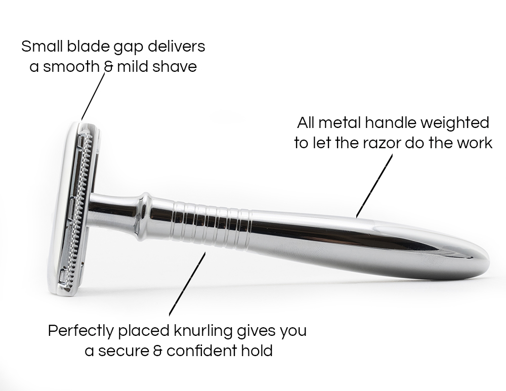 Why this razor - Retro Safety Razor - adjusted - side view