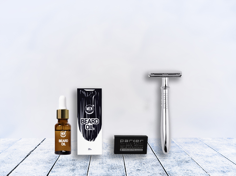 bearded Man Shave Deal- grey