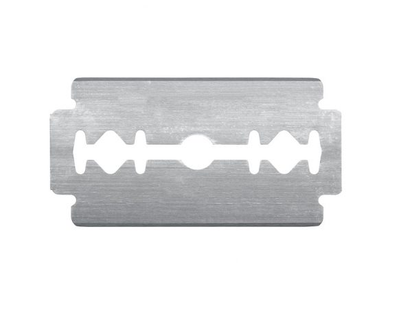 safety razor blades coated with