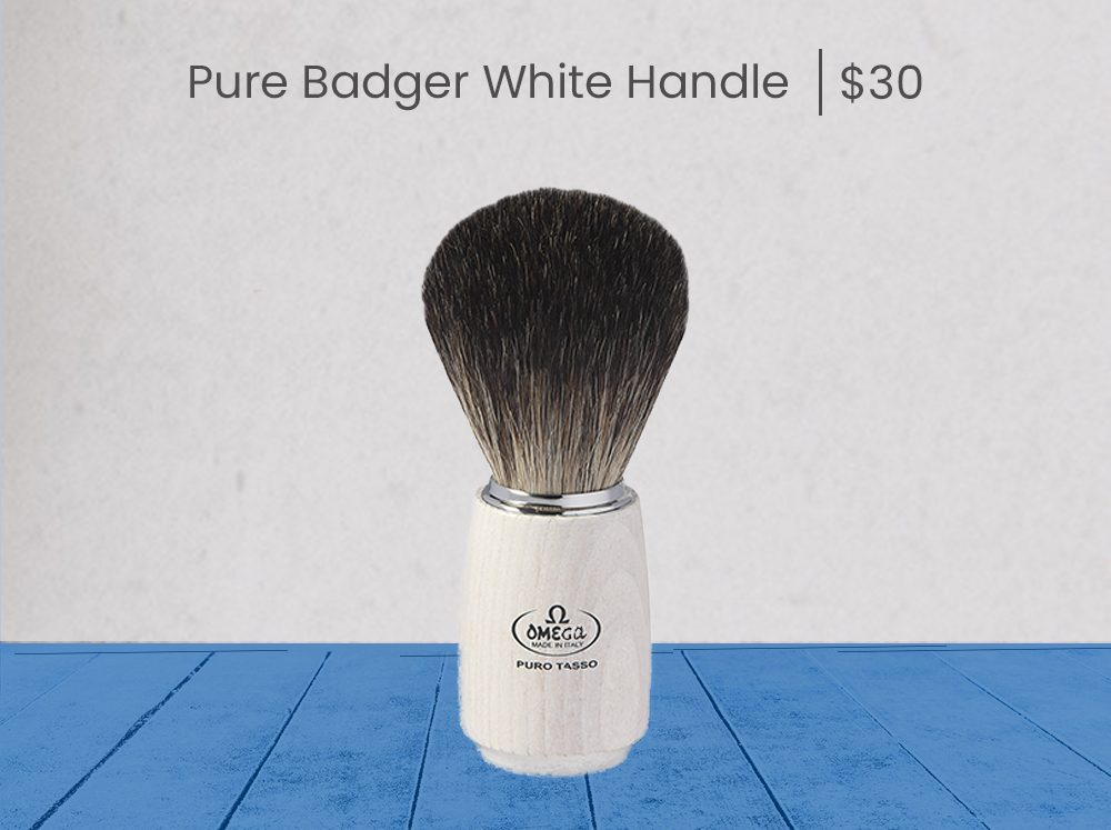 Omega Pure Badger White Handle - product page