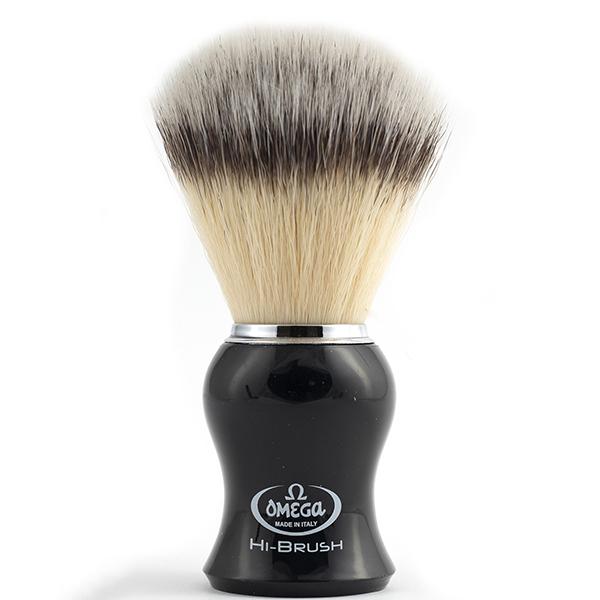 Omega Hi-Brush Black Handle Shave Brush - 600 x 600