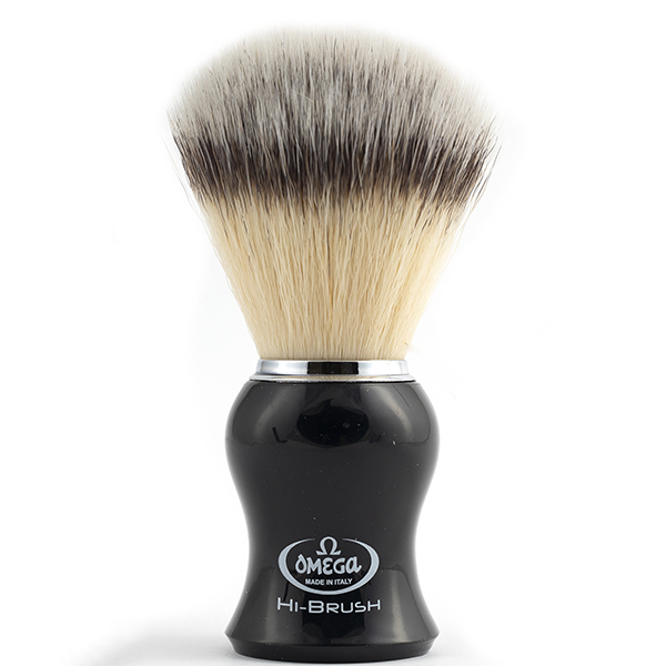 Omega Hi-Brush Black Handle Shave Brush - 600 x 600
