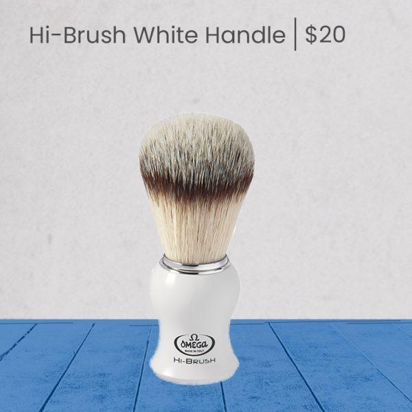 Omega Hi-Brush White Handle - product page