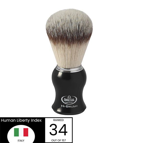 Omega Hi-Brush black Handle shave brush