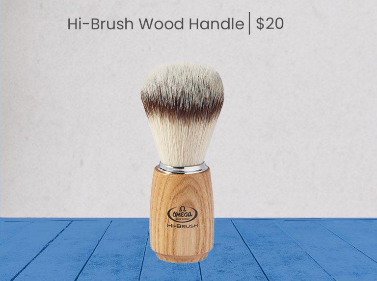 Omega Hi-Brush wood Handle - product page