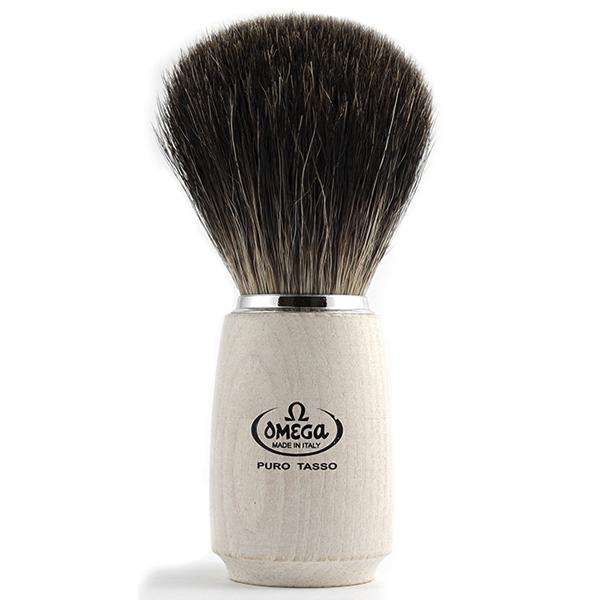 Omega Pure Badger Bristle - White Handle - 600 x 600