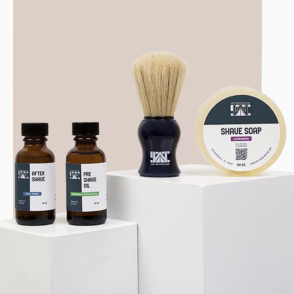 wet shave starter kit - shave soap puck - cream