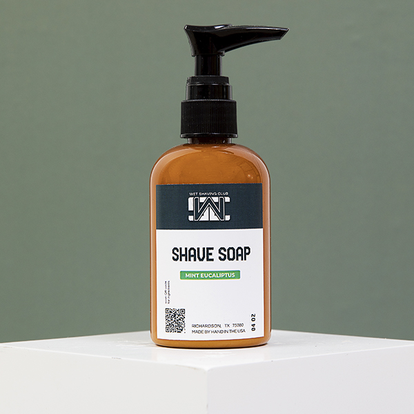 mint shave soap pump green
