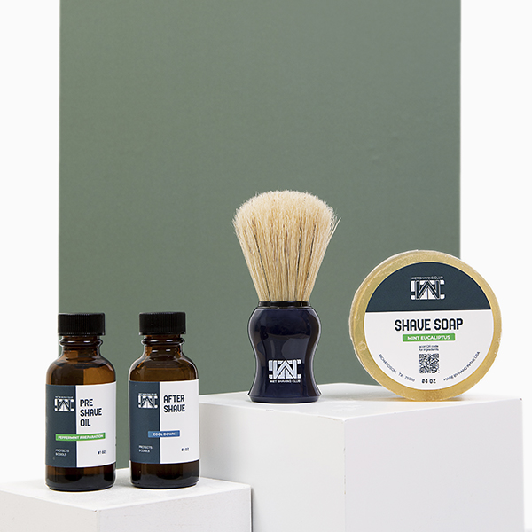 wet shave starter kit - with shave soap puck
